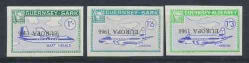 Sark Commodore Shipping 1966 Europa set 2 values