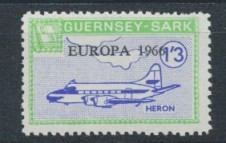 Sark Commodore Shipping 1966 Europa 1/3d with yellow green border