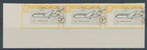Alderney Commodore Shipping 1967 Definitive 3d imperf proof